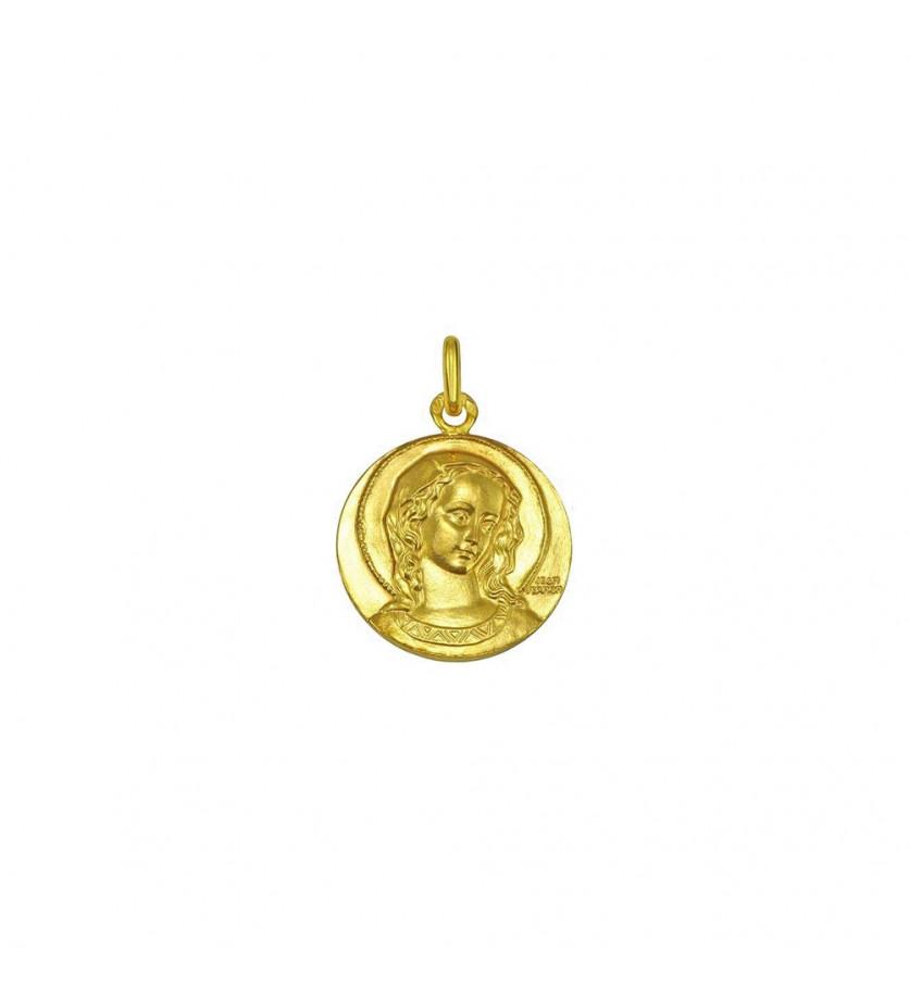 Médaille Virgo Amabilis 21mm or jaune poli