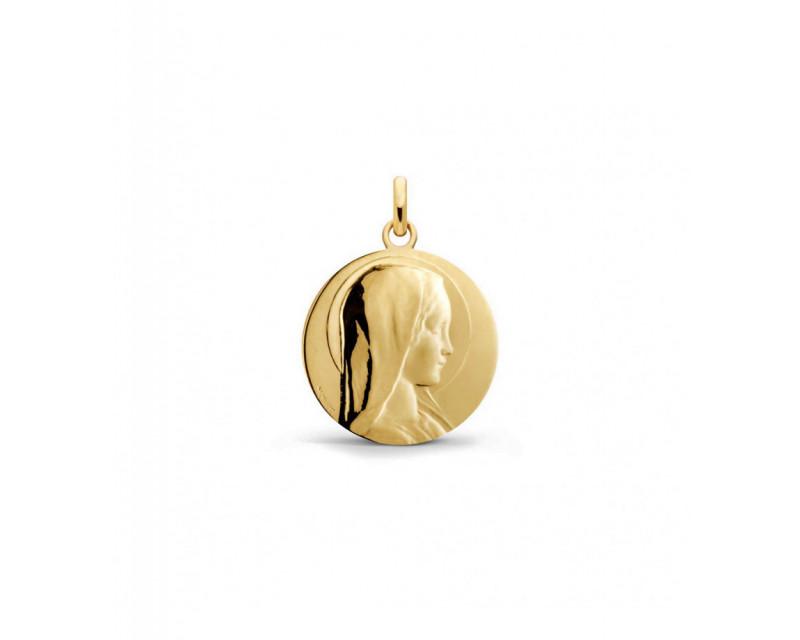 Médaille Vierge Jeune 23mm or jaune poli