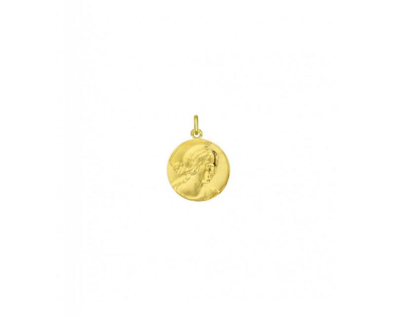 Médaille Vierge Raphaël 16mm or jaune poli mince