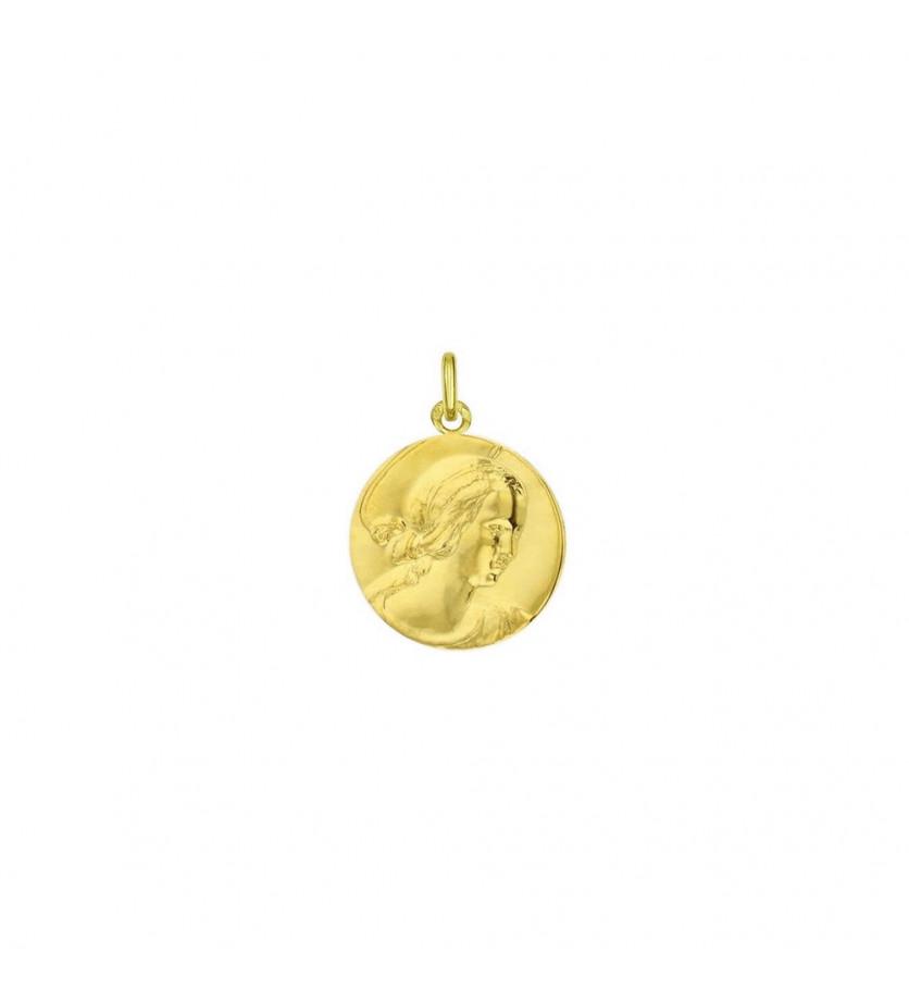 Médaille Vierge de Raphaël 18mm or jaune mince