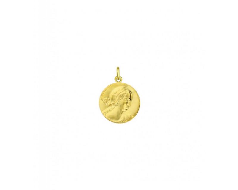 Medaille Vierge de Raphael 18mm or jaune mince