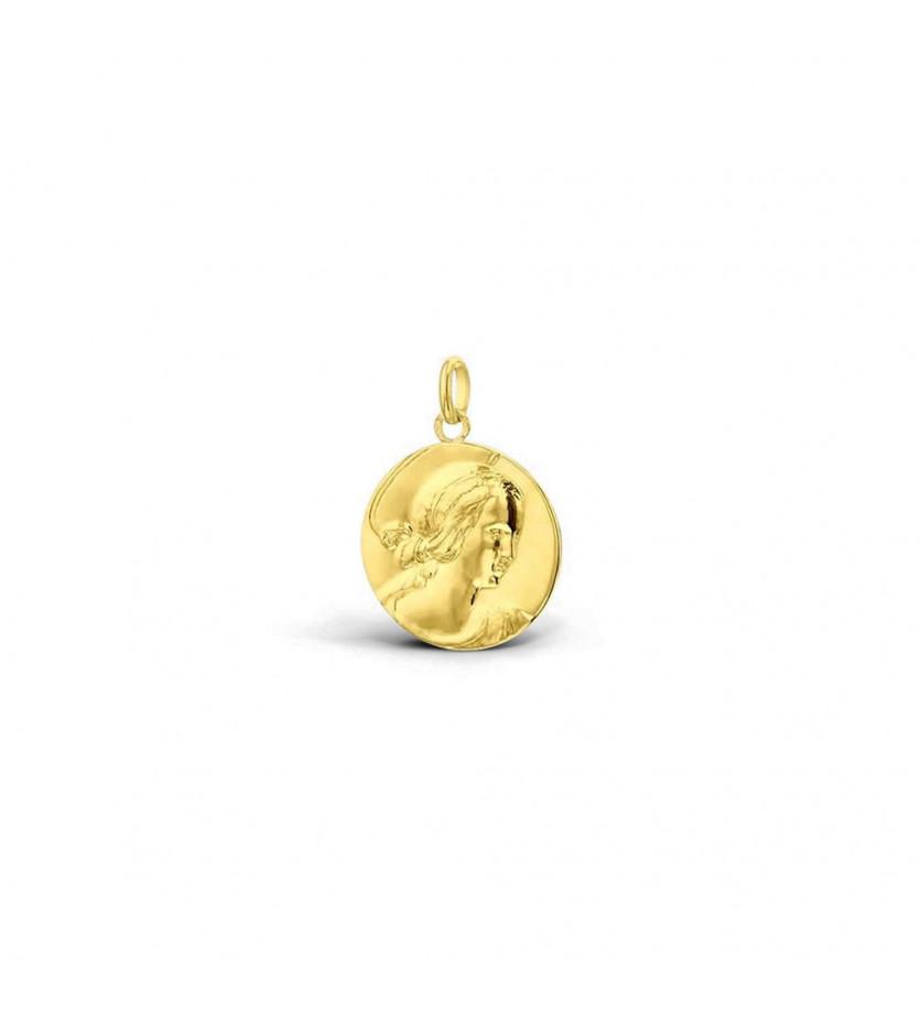 Médaille Vierge de Raphaël 21mm or jaune poli