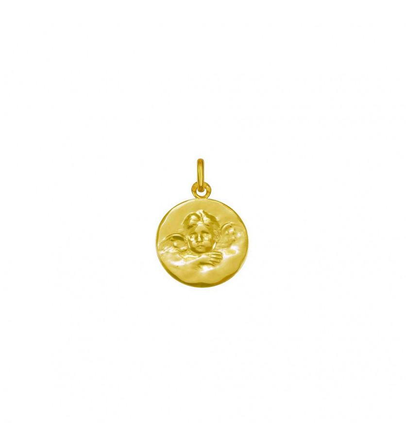 ARTHUS BERTRAND Médaille Ange de Robida 16mm or jaune mince