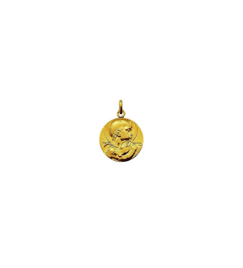 ARTHUS BERTRAND Médaille Saint Jean Baptiste Guzman 16mm or jaune poli