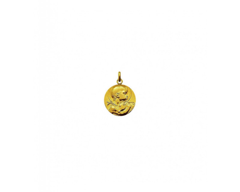 Médaille Saint Jean Baptiste Guzman 16mm or jaune poli