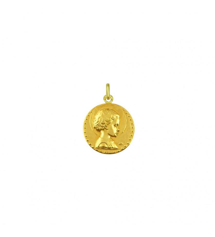 Médaille Jésus Enfant 18mm poli mince
