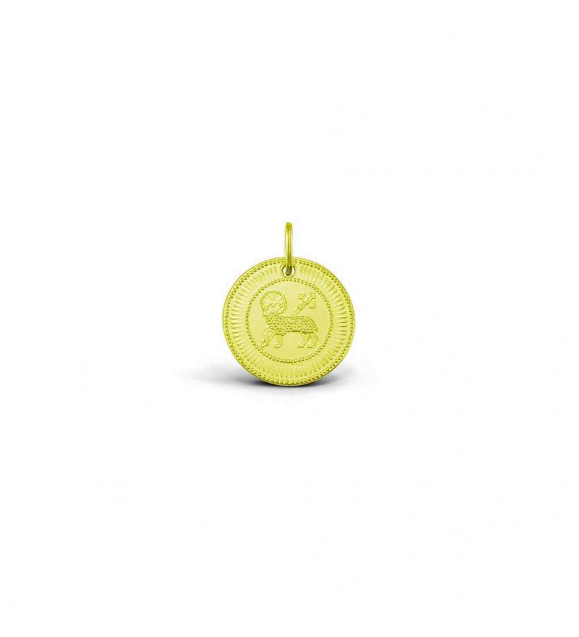 Médaille Agnel de Louis 21mm or jaune sablé