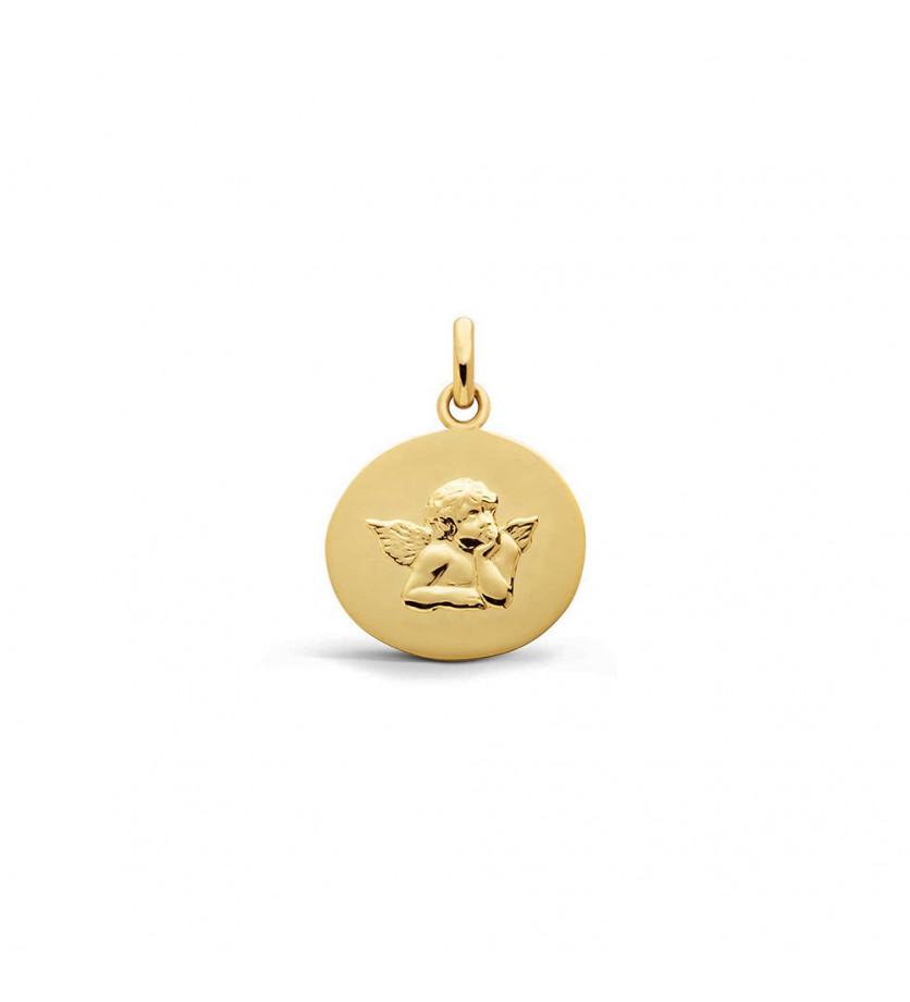 Galet Ange de Raphaël 16mm or jaune