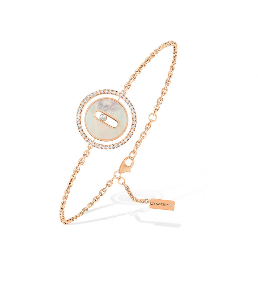 Bracelet Lucky Move PM or rose nacre blanche diamants