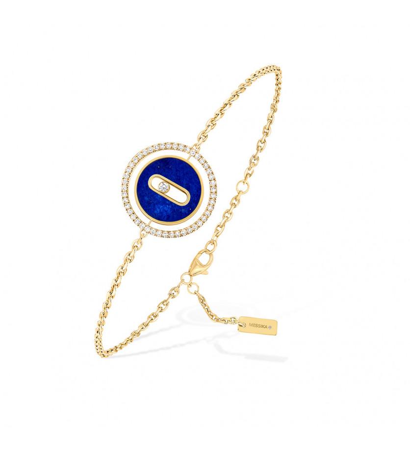 Bracelet Lucky move PM or jaune lapis luzuli diamants