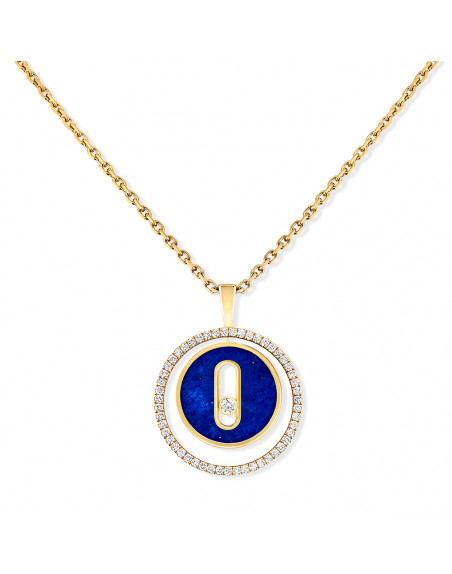 Collier Lucky Move PM or jaune lapis lazuli diamants