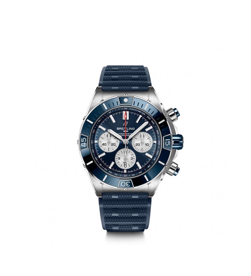 BREITLING Montre Super Chronomat  B01 44 Acier Bleu