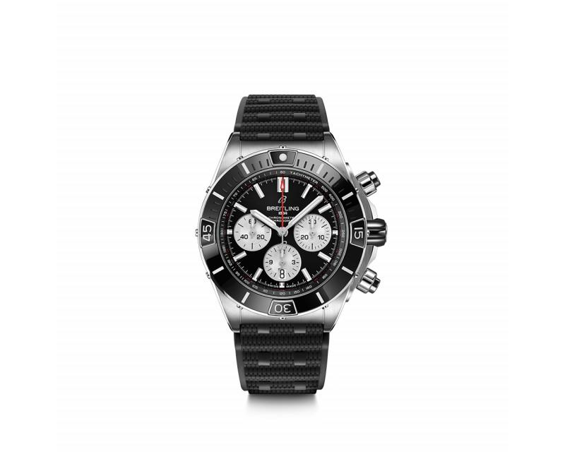 BREITLING Montre Super Chronomat B01 44 Acier Noire