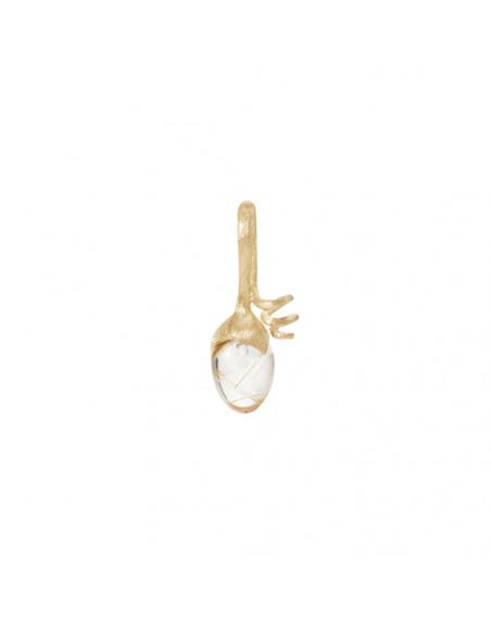 Pendentif Lotus quartz rutile