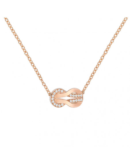 Collier Chance Infinie MM or rose semi pavé diamants