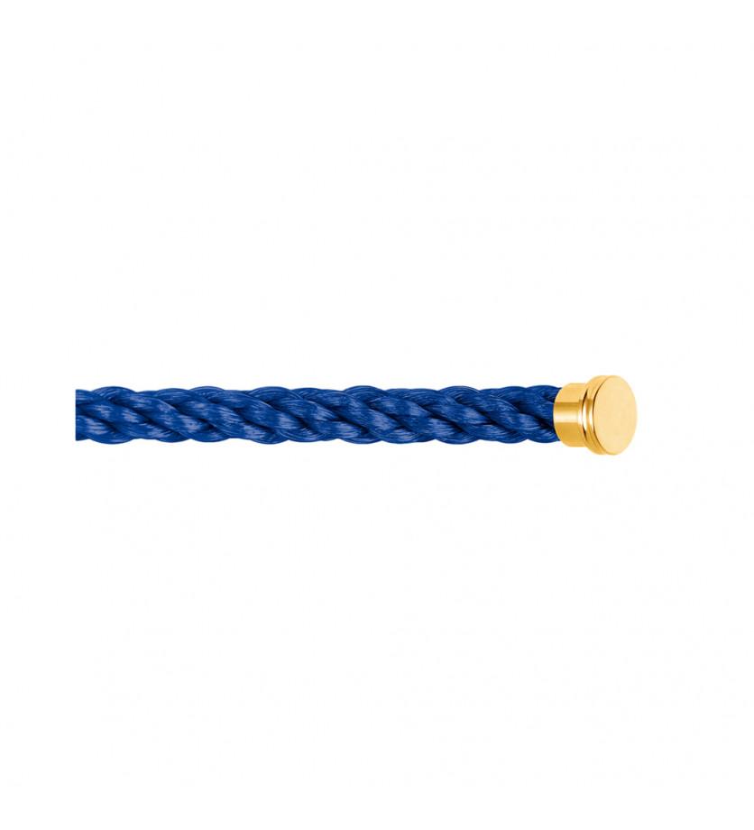 Câble Force 10 GM corderie bleu indigo embouts jaunes