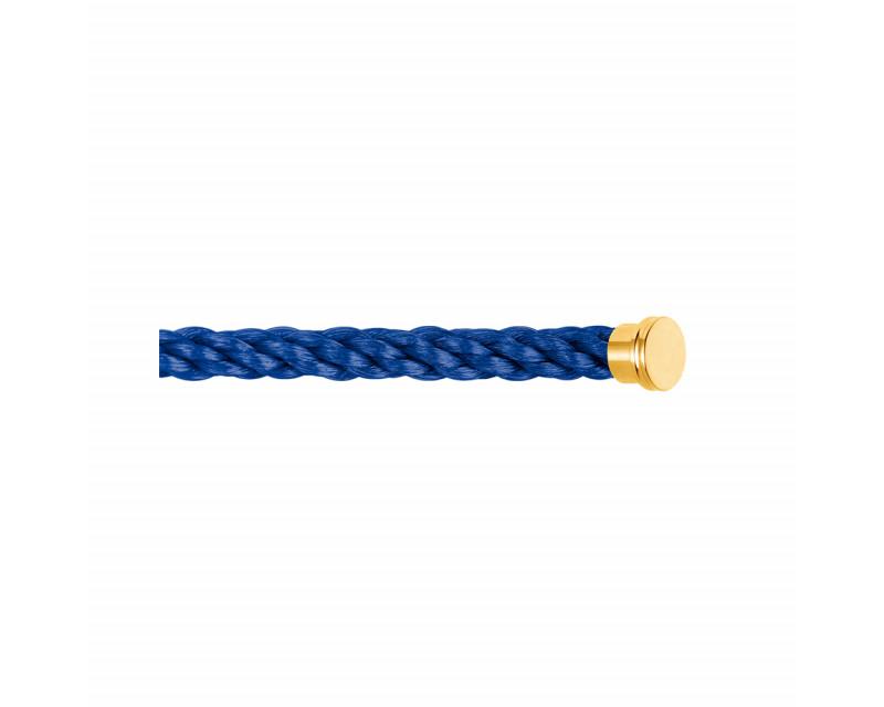 Câble Force 10 grand modèle corderie bleu indigo embouts jaunes