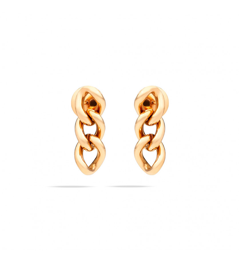 Boucles d'oreille Catene or rose