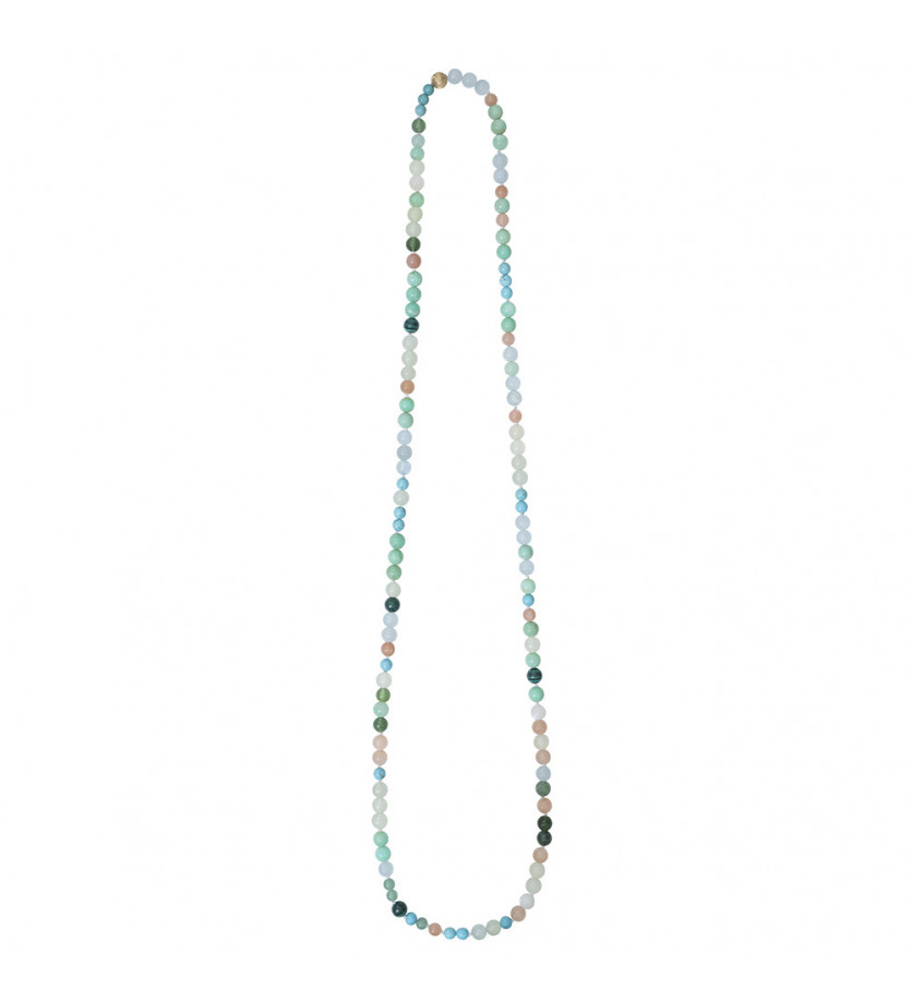 """Collier Nature thème """"Turquoise"""" perles sans fermoir"""