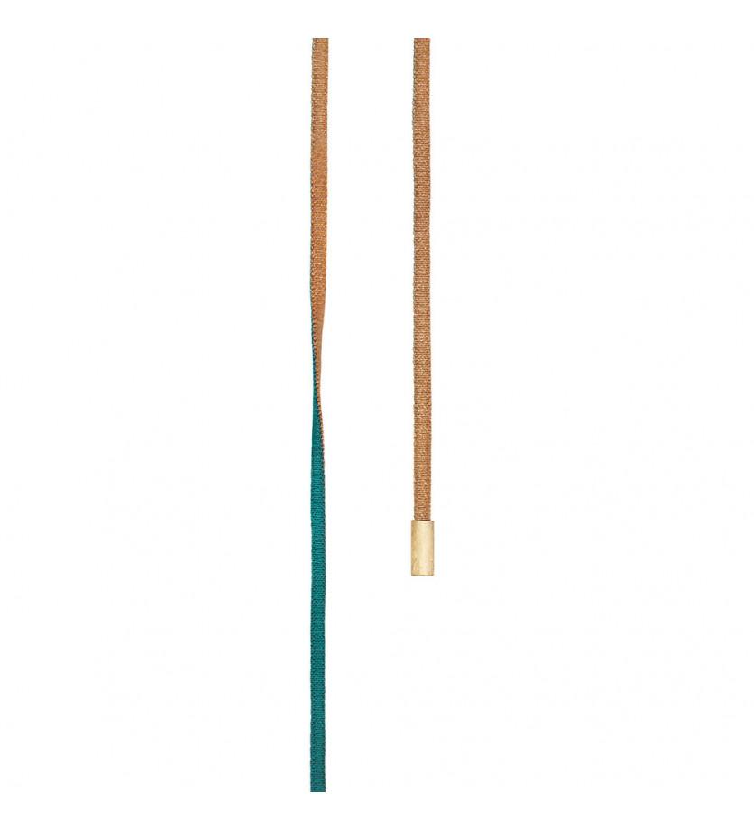 Cordon golden et turquoise 130 cm