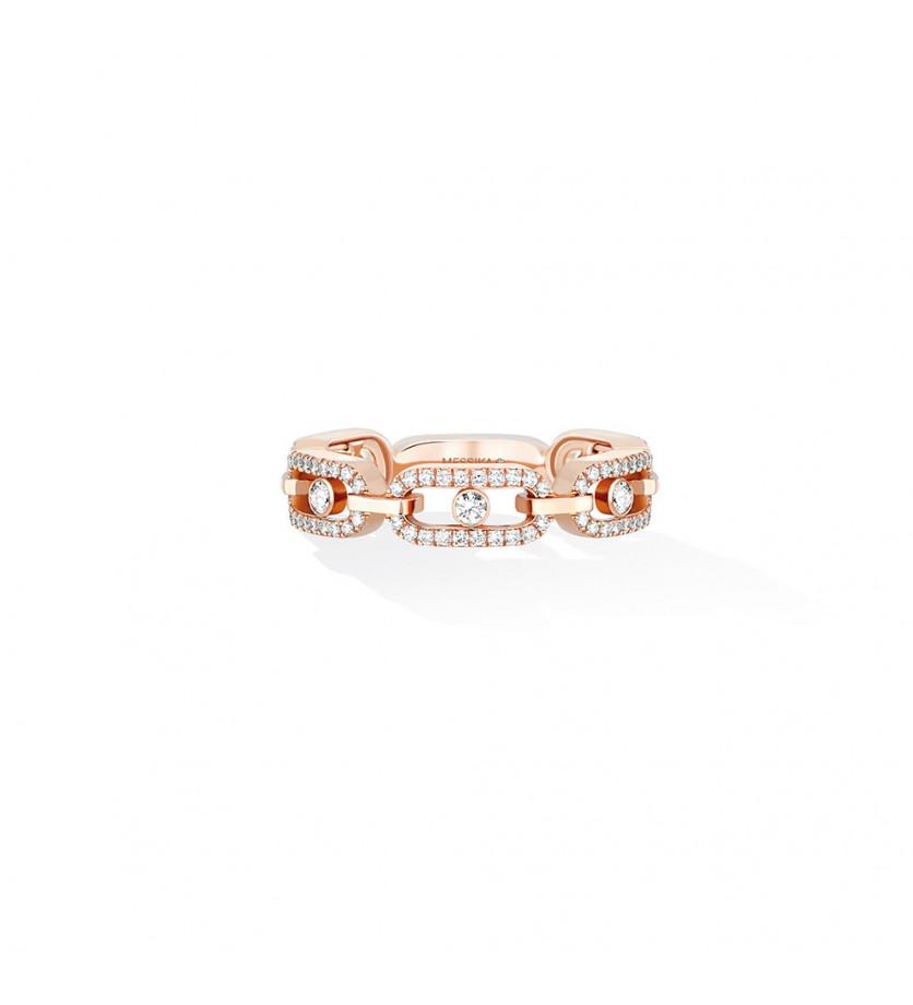 Bague Move Uno multi or rose diamants