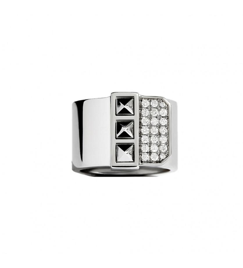 Bague pinki Rockaway argent 3 picots diamants