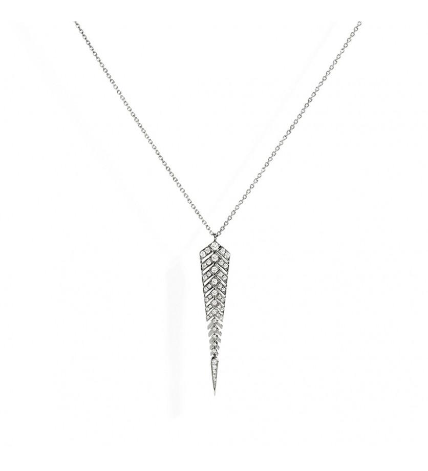 Collier Stairway argent diamants Taille M
