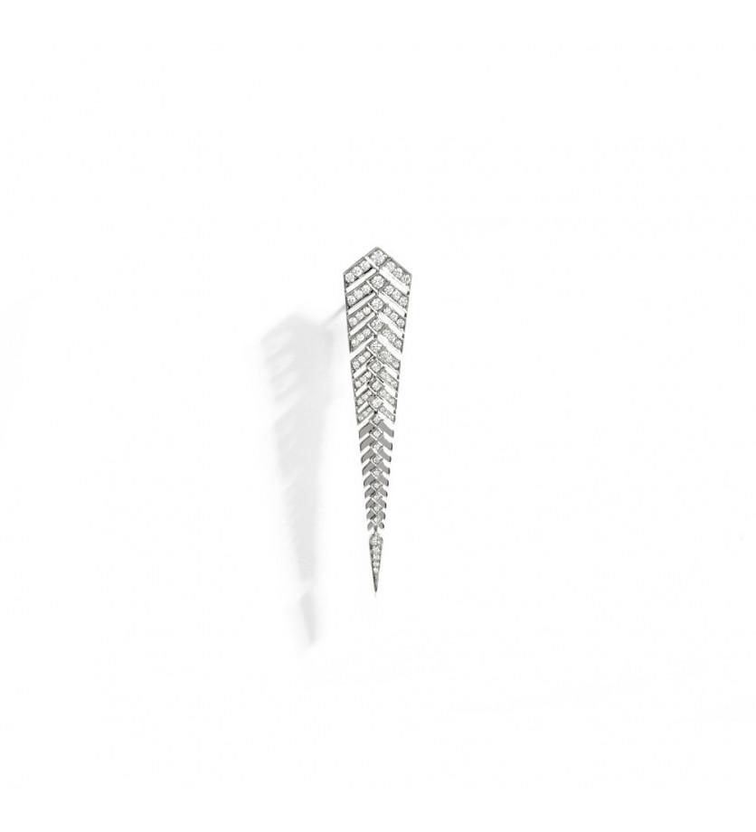 Boucle d'oreille Stairway argent diamants taille XL