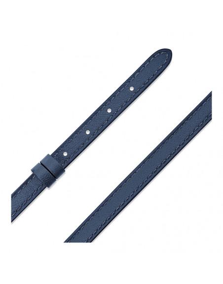 Bracelet configurable My Move en cuir double tour bleu de chine Taille S-M