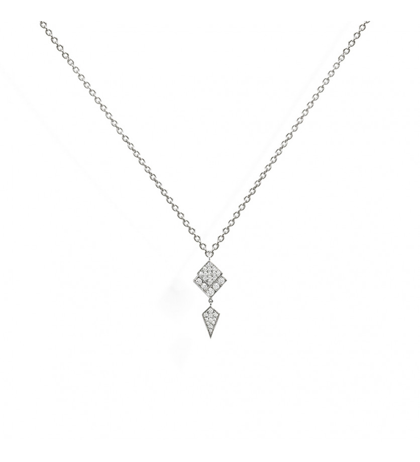 Collier Stairway argent diamants