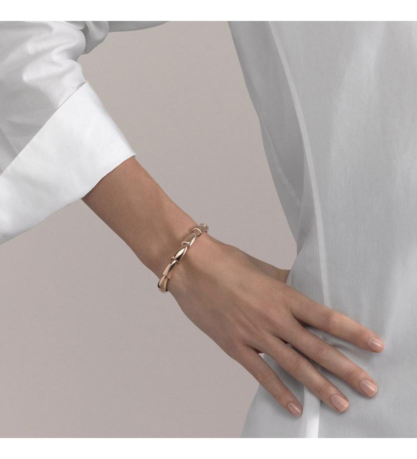 Bracelet Calla jonc en or rose et titane