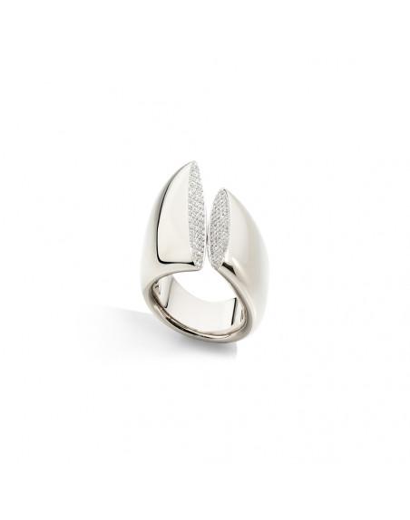 Bague Eclisse MM or blanc et diamants