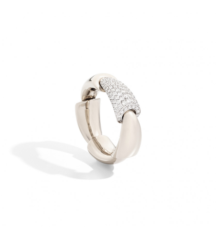 Bague Calla MM or blanc diamants