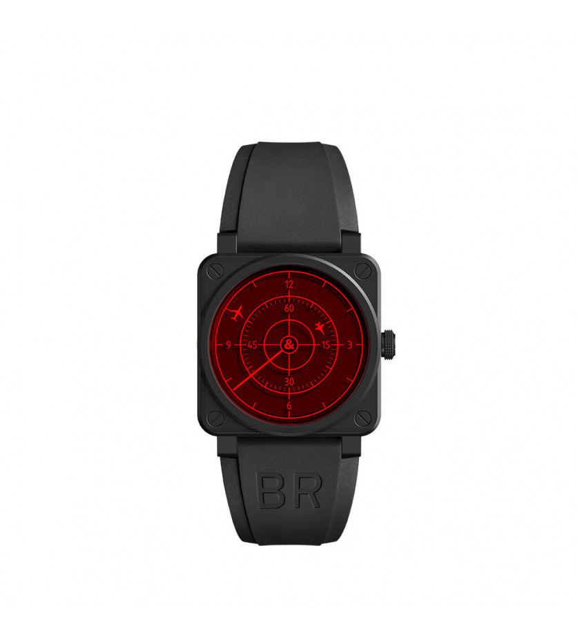 Montre BR0392 Red Radar 42mm Automatique Céramique