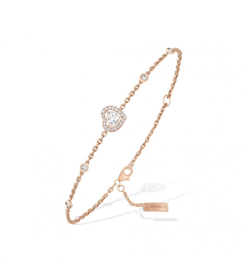 Bracelet Joy Coeur or rose diamants