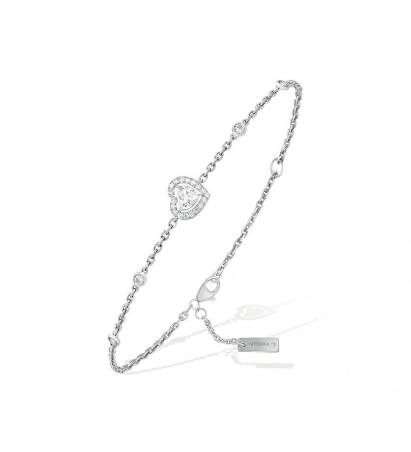 Bracelet Joy Coeur or gris diamants