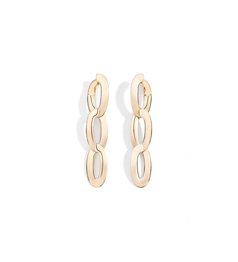 Boucles d'oreille Olimpia 3 or rose