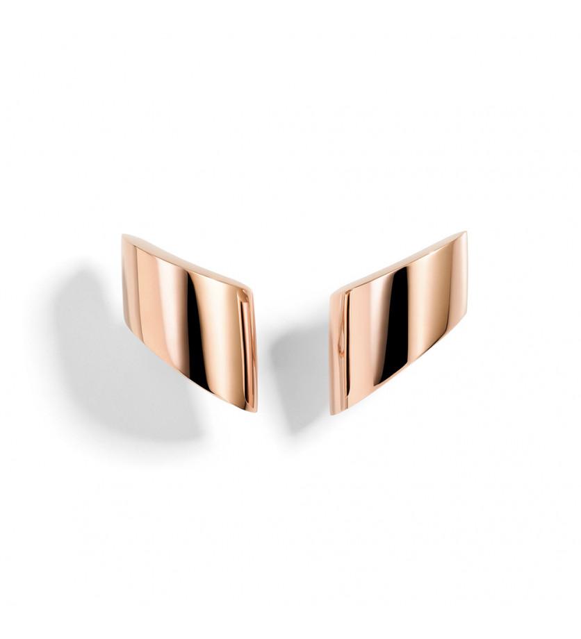 Boucles d'oreilles Vague MM or rose