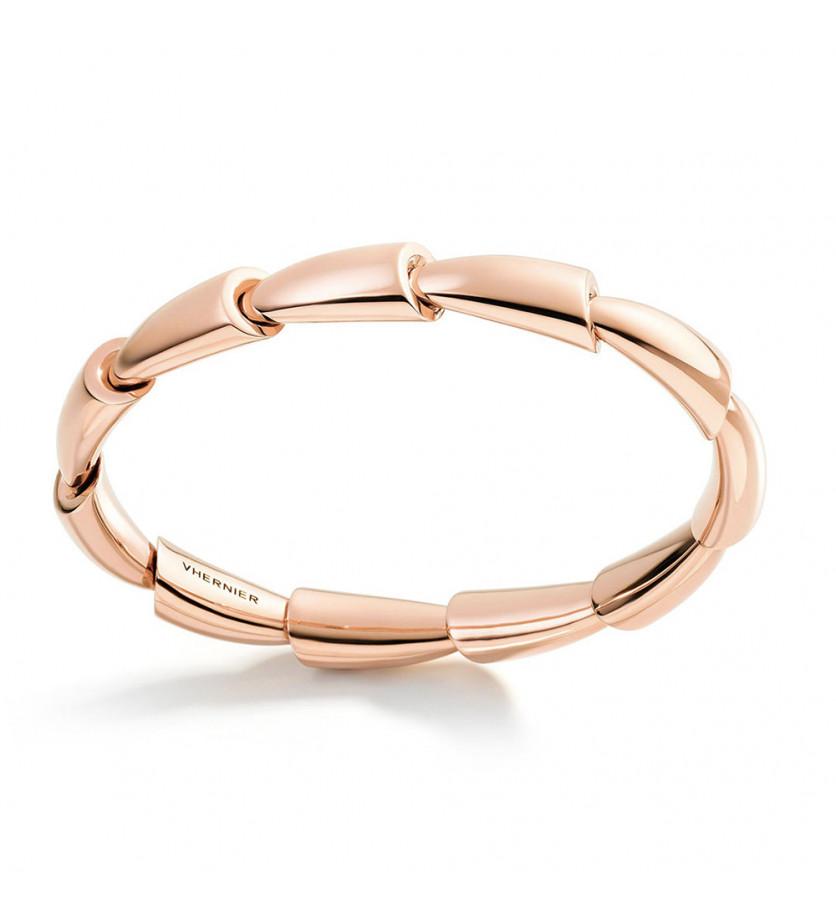 Bracelet jonc Calla MM or rose