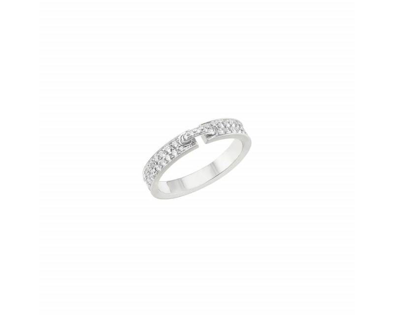 Bague Liens Evicence XS or blanc diamants