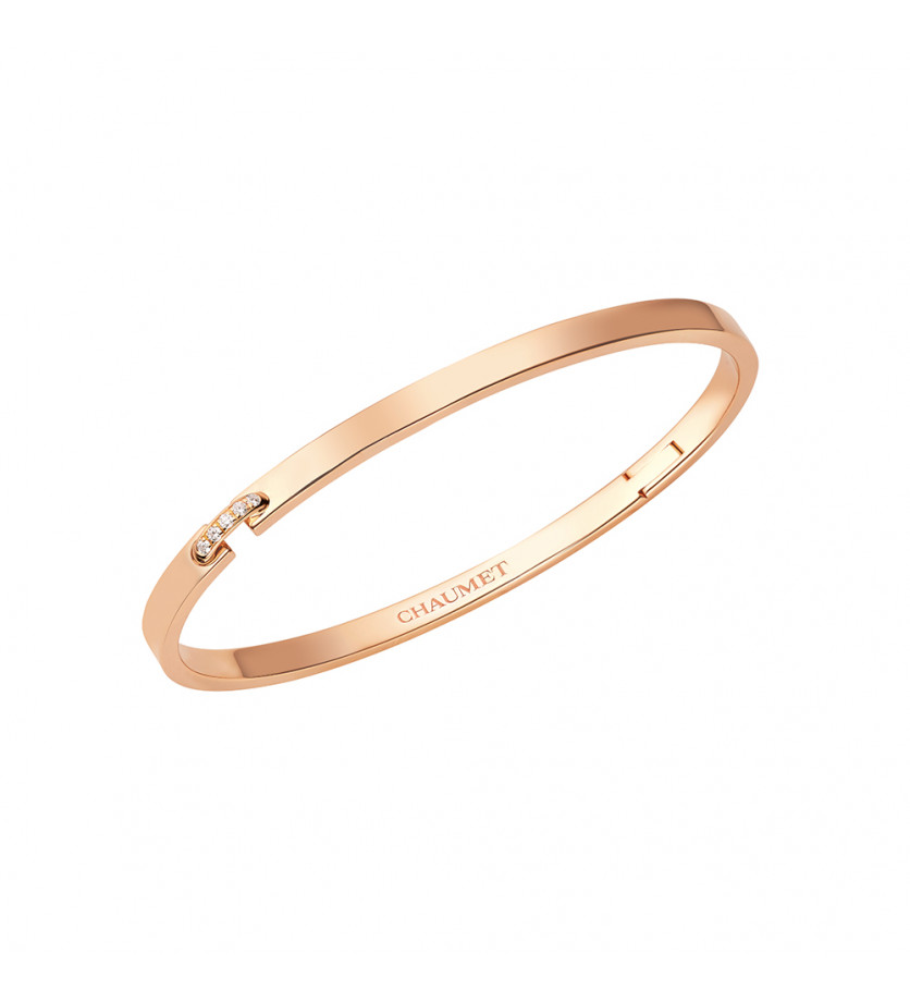 Bracelet Liens Evidence or rose pavé diamants
