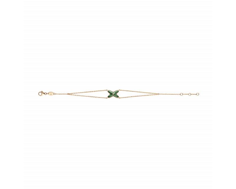 Bracelet Jeux de Liens malachite diamant