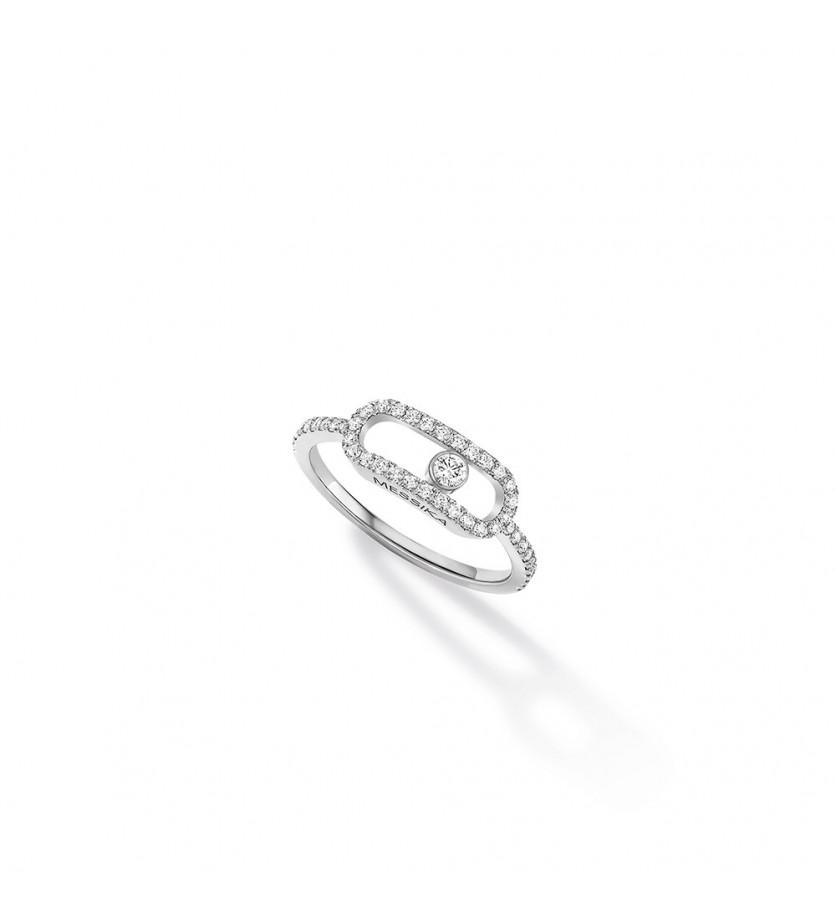 Bague Move Uno GM or gris diamants