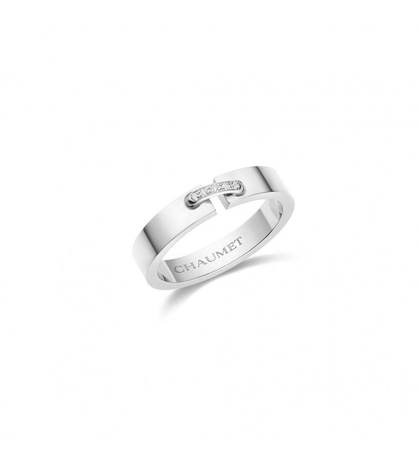 Bague Liens Simple XS or blanc diamants