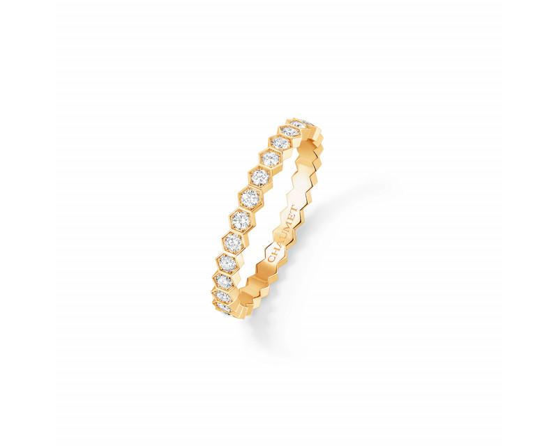 Alliance Bee My Love or jaune diamants