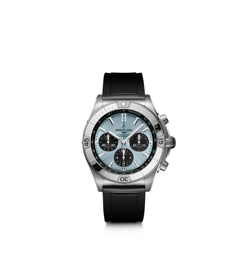 Montre Chronomat B01 42 Acier inoxydable et platine - Bleu Glacier