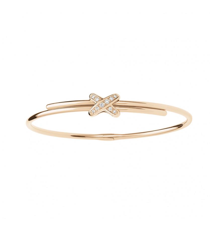 Bracelet Jeux de Liens XS or rose serti diamants