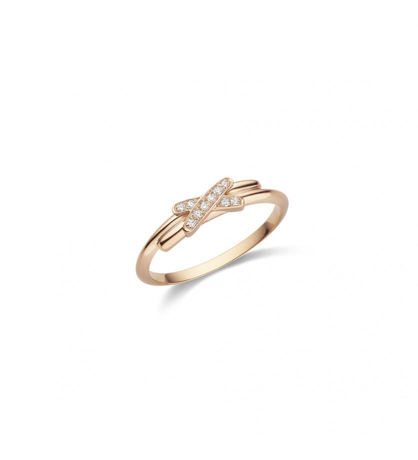 Bague Jeux de Liens XXS or rose diamants