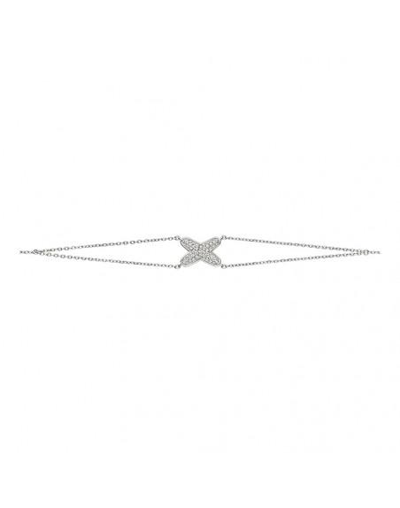 Bracelet Jeux de Liens or gris diamants