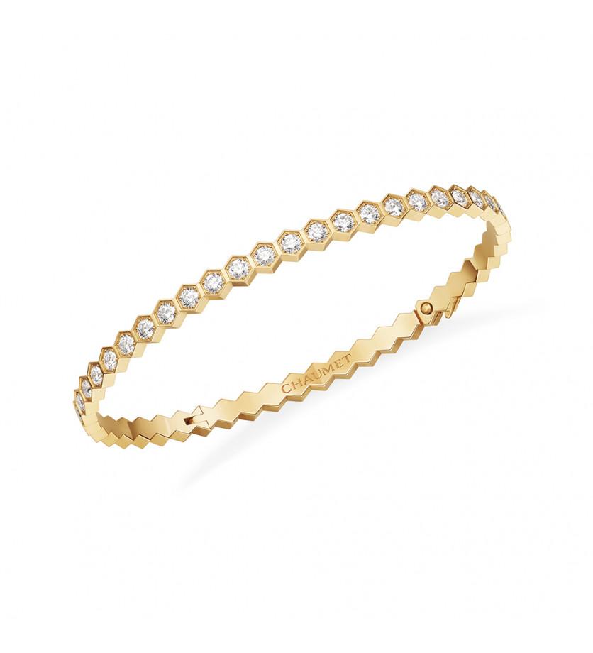 Bracelet Bee My Love or jaune et diamants